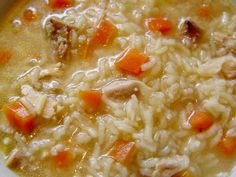 Pressure Cooker Chicken and Rice Soup Recipe by ePressureCooker.com.  Make this light and tasty homemade soup from scratch in about 20 minutes using your pressure cooker, leftover chicken or turkey, and common pantry and refrigerator items.  Includes alternate instructions for brown rice, non GMO or gluten free options.