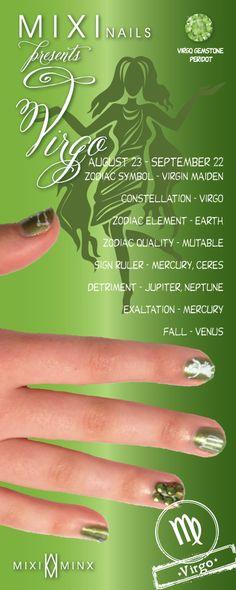 Zodiac Nails: Virgo by Mixi Minx