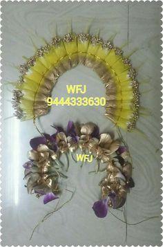 Flower Garland Wedding, Flower Garlands, Bridal Flowers, Flowers In Hair, Flower Model, Aari Embroidery, Flower Hair Accessories, Hair Decorations, Hair Tips