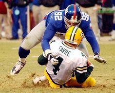Michael Strahan (New York Giants) and Brett Favre