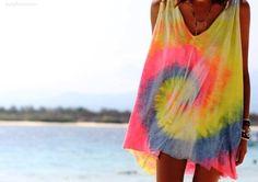 Tie dye and beachy