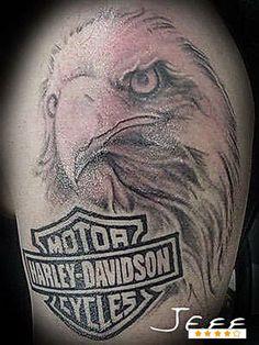 harley davidson pin up tattoos | 30 Oustanding Harley Davidson Tattoos Creativefan - kootation.com