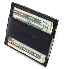 Alpine Swiss Money Clip Genuine Leather Super Thin Slim Cash Strap Wallet Black at Amazon Men's Clothing store: Front Pocket Wallet. $10. cards and bills.