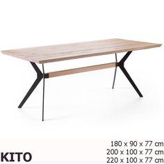 KITO Tölgy - Fekete Acélvázas Étkezőasztal