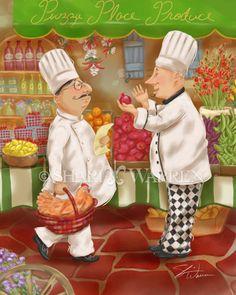Shari Warren Illustration and Design :: Chef and Waiter Art for Image Licensing - Shari Warren Art and Design :: Artwork for Licensing on Consumer Products and Prints