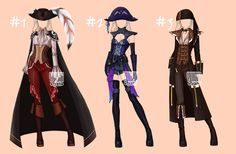 [closed] Auction Outfit famale Pirates theme 1-3 by YuiChi-tyan
