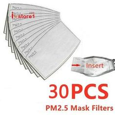 100 pcs/Lot Filter Paper Anti Haze Mouth Mask Anti Dust Mask Activated Carbon Filter Paper Health Care For Adult - Beluga Bazaar Dust Filter, Air Filter, Flu Mask, Heart Function, Respiration, Lunge, Shortness Of Breath, Tela, Health Care