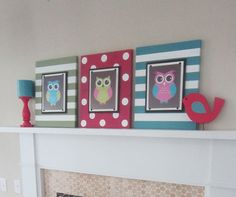 wall art for owl bathroom