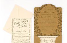 Oh So Beautiful Paper: April + Matt's French Garden Party Wedding Invitations
