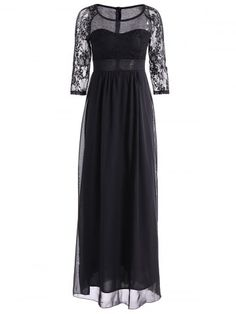 GET $50 NOW | Join RoseGal: Get YOUR $50 NOW!http://www.rosegal.com/maxi-dresses/lace-insert-high-waist-layered-731726.html?seid=7100241rg731726