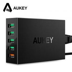 [ 19% OFF ] Aukey Quick Charge Qc 3.0 5-Port Usb Charger Station With Micro-Usb Cable For Samsung Galaxy Xiaomi Mi5 Iphone Ipad Meizu & More