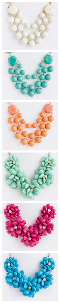 New jewelry arrivals for Saturday!   Find them here: http://amaranthcollection.com/collections/new-arrivals  #designerinspired #statementnecklace #flowers #beadnecklace #orange #teal #ivory #mint