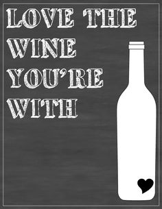 Wine Chalkboard Art, Free Printable. A Fit and Spicy Life