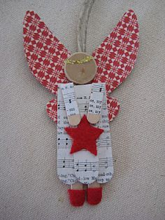 Red-winged Popsicle Stick Angel @leaf and letter handmade: I love these because…