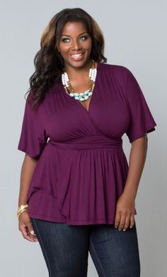 Promenade Top, Plum Perfection (Women's Plus Size) From the Plus Size Fashion Community at www.VintageandCurvy.com