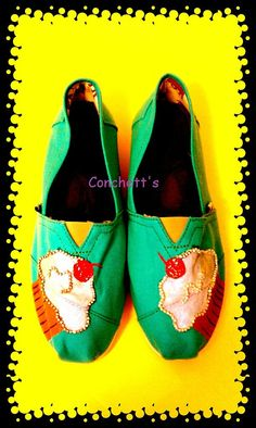 Hand Painted Toms Cupcake