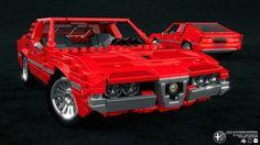 Model by Alex Sonny here. Lego Models, Lego Moc, Toys For Boys, Alfa Romeo, Legos, Montreal, Lego Auto, 3 D, Classic Cars