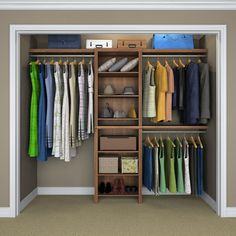 to 10 ft. D x 120 in. W x 83 in. H Walnut Basic Laminate Closet System - 17012 - The Home Depot