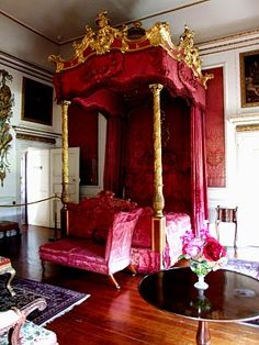Bedroom (one of many) in Hopetoun House, South Queensferry, Scotland. Hopetoun is an amazing place and well worth a visit should you ever find yourself in its environs.