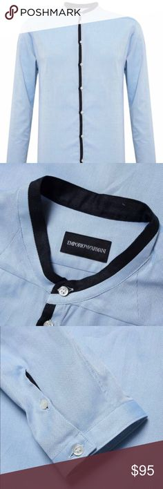 Emporio Armani men shirt Brand new Emporio Armani shirt, size 45/16 ( large). Never worn. Authentic Certificate attached Emporio Armani Shirts Casual Button Down Shirts