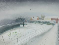 Snow in the Village. Nicholas Hely Hutchinson.