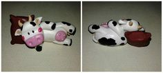 Soprammobile mucca fimo polymer clay