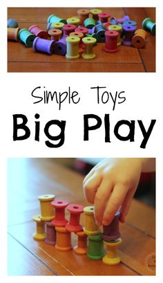 How simple toys can get kids playing! From @Amanda Snelson Snelson Snelson Snelson Snelson:: Dirt and Boogers