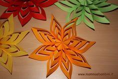 Tutti i passsaggi per scoprire come realizzare decorazioni facili di carta adatte per tutte le occasioni di festa (scuola, compleanni, Natale)