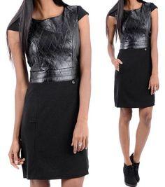 Neu Sexy Kunstlederkleid S 36 schwarz Minikleid Kunstleder Lederkleid Kleid