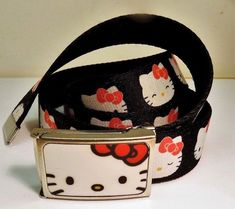 Hello Kitty Colorful Red White & Black Animated Character Kitty Faces Web Belt #HelloKitty