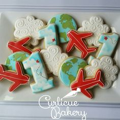 Airplanes and clouds for ideas. I do not have the capabilities to do the globes…