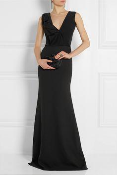 Victoria Beckham|Ruffled silk and wool-blend gown|NET-A-PORTER.COM
