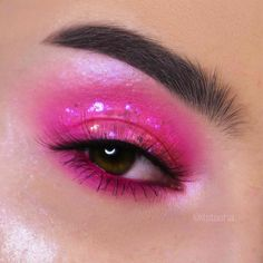 Under Eye Makeup, Eye Makeup Art, No Eyeliner Makeup, Pink Makeup, Cool Makeup Looks, Cute Makeup, Pink Eyeshadow Look, Mascara, Unique Makeup
