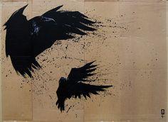 Crows Illustration