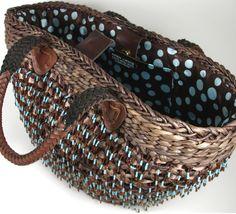 Karen Lukacs upcycled straw bag.