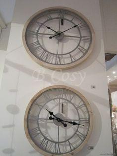 "J-Line Ronde white wash houten klok ø65 <span style=""font-size: 0.01pt;"">Jline-by-Jolipa-53579-antieke-stijl-decoratie-online-webshop-online</span>"
