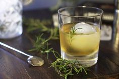Hotel d'Alsace  2 oz Bushmills Irish whiskey 1/2 oz Cointreau 1/2 oz Benedictine sprig of fresh rosemary