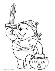 Winnie the Pooh color page, disney coloring pages, color plate, coloring sheet,printable coloring picture