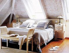 Attic bedroom design ideas is always been a great chance for the homeowners to increasing their home value. Attic bedroom design ideas is different challenge. Attic Bedroom Designs, Attic Bedrooms, Attic Design, Bedroom Windows, Loft Design, Master Bedrooms, Design Bedroom, Master Suite, Attic Renovation