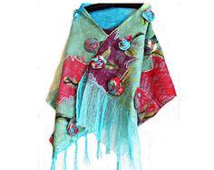 Nuno felted scarf Felted wool scarf Felted scarf Felted wool scarves Felted shawl Nuno felt scarf Felted shawls  Nuno felted shawls Eco felt Nuno Felt Scarf, Nuno Felting, Reusable Tote Bags, Unique, Handmade, Etsy, Shopping, Fashion, Moda