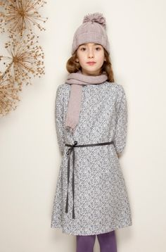 Everyday lined cotton dress from Miss Hall for fall 2014 kids fashion
