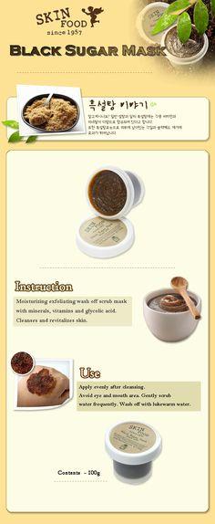 Skinfood - Black Sugar Mask Wash off 100g - Skin Food Beautynetkorea Korean cosmetic