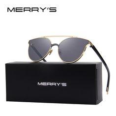 eae65bb642a MERRY S 2017 New Arrival    Women Classic Brand Designer Cat Eye Sunglasses  Integrated Eyewear