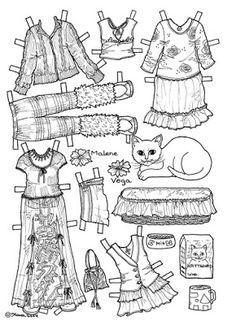 Karen`s Paper Dolls: Malene 1-6 Paper Doll to Colour. Malene 1-6…