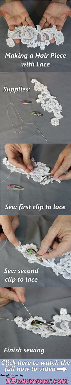 How to make a hair piece with lace for a dance costume.