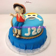 Tarta one piece - Tarta fondant one piece Amelie, Fondant Cupcakes, Birthday Cake, Desserts, Food, Custom Cakes, Fondant Cakes, Tailgate Desserts, Deserts