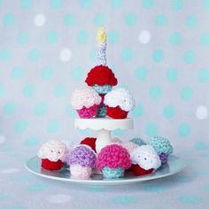 Schema mini cupcake a uncinetto