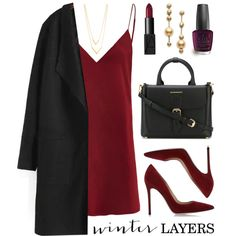 Winter Layers: Slip Dress by lgb321 on Polyvore featuring polyvore, fashion, style, Gianvito Rossi, Burberry, Mikimoto, Jennifer Zeuner, NARS Cosmetics, OPI and women's clothing