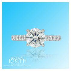 Classic custom diamond engagement ring Custom Designs - Brian Joseph Jewelry