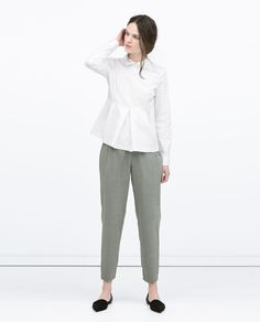 ZARA - NEW THIS WEEK - TROUSERS WITH WAISTBAND